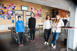 Alexander Lindgren, Liam Arntsen, Moa Hellgren och Tilia Zeidlitz berättar att det pratats en del på skolan om de datorrån som skett den senaste tiden.