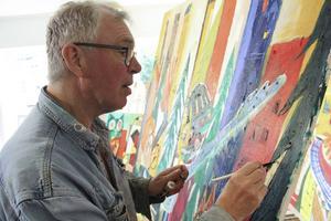 Det här är essensen av ett bra liv. Jag är så lyckligt lottad, säger Per Sonerud om sin nya tillvaro som konstnär.