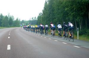 En bit av Bollnäsrundan gick längs riksväg 50 i riktning mot Alfta.