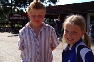 Hjältar. Både Jesper och Emmy gjorde en kämpeinsats för att rädda någon annans liv. Foto:Karolina Lundgren
