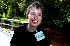Nöjd mässgeneral. Marie Olausson hoppas att trädgårdsmässan blir etablerad i Säter för hon tycker att Säterdalen är en idealisk mässarena.