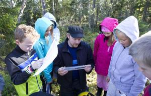 Gustav Eriksson berättade om de olika fiskarternas egenskaper.