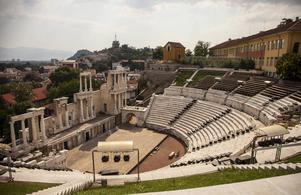 Den romerska teatern hör till dragplåstren i Plovdiv - en mysig stad som har rätt få utländska turistbesök.   Foto: Johan Öberg
