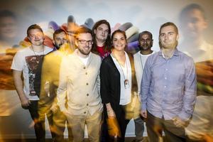 De sju unga dataingenjörerna som ingår i Östersundsprojektet: Per Larsson, Mikael Carlén, Amandus Melin, Emil Sunesson, Caroline Eliasson, Karl Eriksson, Hannes Persson.
