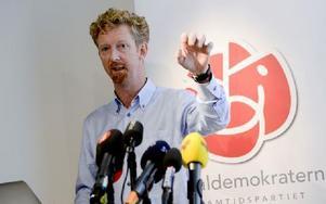 Socialdemokraternas valledare Jan Larsson presenterade på måndagen Socialdemokraternas valstrategi. Foto: BERTIL ENEVÅG ERICSON / TT