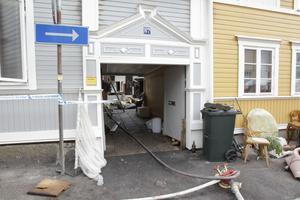 Polisen har spärrat av området i väntan på en teknisk undersökning.