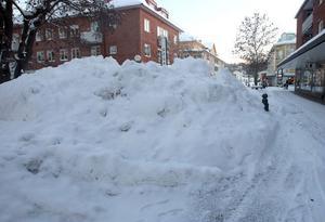 Så här såg det ut i stan redan för några veckor sedan.