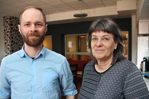Andreas Pernhall och Karin Rosenberär projektledare för Breddad rekrytering i Falu kommun. Målet är att arbetsplatserna ska bli mer attraktiva och öppna upp för nya grupper.