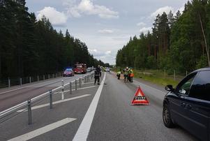 Räddningstjänsten sanerade platsen efter olyckan.