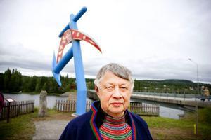 En himmelsk man som sparkar stjärnglans över södra Årefjällen. Så vill Folke Fjällström, Vålådalen, beskriva sitt konstverk. – Det kom jag på just nu, det låter lite poetiskt, säger han med ett skratt.