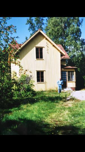 Huset som det såg från att det var nybyggt till det att Ingela Lundwall och sambon köpte huset.
