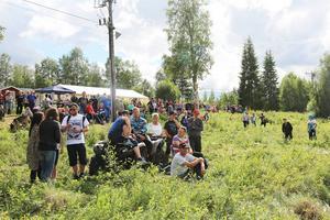 Det var många som hade tagit sig till Hån för att se på kvalen till EM i watercross