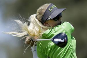 Pernilla Lindberg slutade tia i LPGA-tävlingen på Hawaii. Australiensiska Min-Jee Lee vann. Arkivbild.