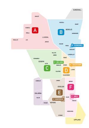 70 zoner har blivit 11. X-trafiks nya priszoner är betydligt större vilket gör att resenärerna kan resa längre sträckor för biljettpengarna. Från och med 1 juni blir det bara elva zoner i länet. Det innebär exempelvis att Ljusdal blir en enda zon, i stället för åtta och Bollnäs och Ovanåker tillsammans blir två zoner i stället för tolv.