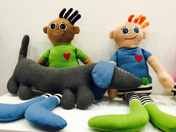 Från Kai Copenhagen kommer dessa dockor. De finns på