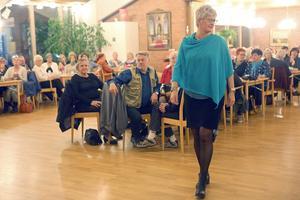 Församlingshememt var fullt med modeintresserade på måndagskvällen.