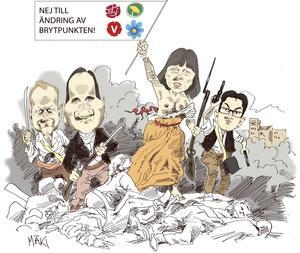 Regeringen ville 2013 höja brytpunkten för när man måste betala statlig skatt. Oppositionen sänkte förslaget.