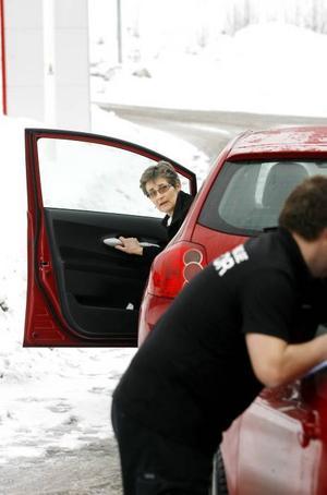 Christina Ahl var med på kursen för att kunna lära ut sparsam körning till sin son som hon snart ska börja övningsköra med.