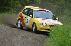 Mattias Hägg slutade trea i tvåhjulsdrivna klassen.