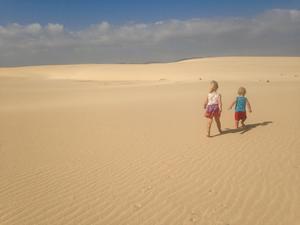 Sanddynerna i Fuerteventura.