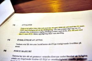 Bergs kommuns senaste avtal gick ut den 31 mars 2010.