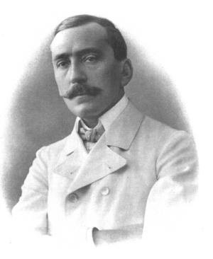 Den ungerske författaren och dramatikern Ferenc Herczeg 1905.