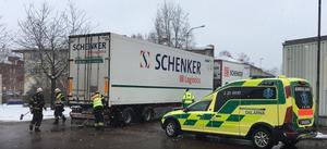 Olyckan inträffade klockan 10.48 på onsdagsförmiddagen.
