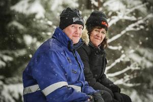 Anders Wänn och Monica Israelsson, Borlänge, hade hittat en bra plats för att titta på rallyt.