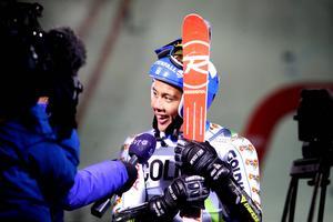 Calle Lindh har aldrig förr kvalat in eller tagit poäng i slalom. På söndagen blev han sexa.