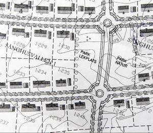 Den här kartan har varje villaägare fått av Krokoms kommun. I den är en lekpark inritad. (Klicka för större bild)