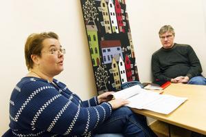 Lena Finne Jansson, ansvarig för kommunens asylprojekt, och Gunnar Holmberg, kultur och fritid, har en utvärdering att se fram emot under våren.