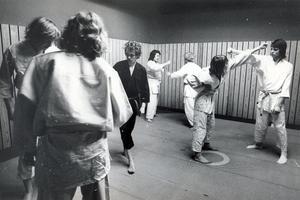 Fritidsgården på Bjurhovda 9 januari 1974.