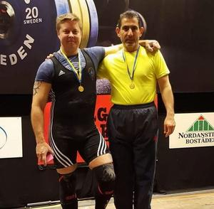 Tobias Wiklund och Mohamad Hassan Baradei på prispallen.