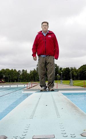 Inga magplask. Campingchefen Ronny Ring konstaterar att sommarens besökssiffra för Skantzö bad och camping blev genomsnittlig.