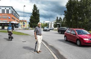 Assar Engblom som växte upp här på Norrmalmsgatan.
