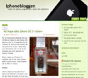 Mobil startar blogg om Iphone
