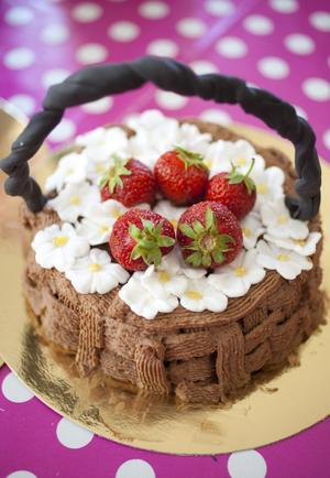 En av Sandra Eklunds vackra tårtor.