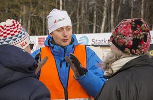 Tävlingsledaren Richard Persson var väldigt nöjd med snötillgången och att man kunde erbjuda hårda och fina spår.