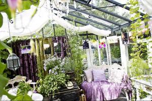 I trädgårdens växthus anordnade Wictoria Boije en fotoutställning med naturbilder som hon själv tagit.