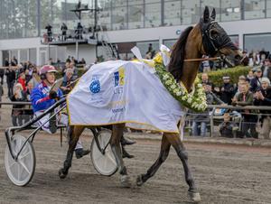 Torbjörn Jansson körde Robert Berghs Ed You till seger i Trotting Masters förra helgen. Förstapriset var 2,2 miljoner kronor.