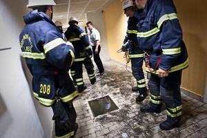 Simhallen i Färila var bara en av fastigheterna dit räddningstjänsten fick rycka ut och sanera efter tisdagens skyfall.