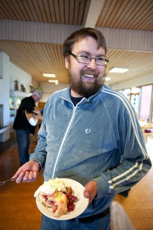 Fornbyeleven Erik Sundin trivs gott på skolan.