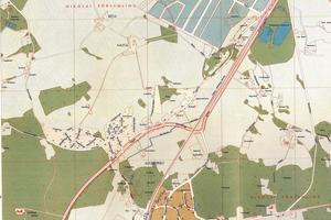 Var låg Nain? Del av Örebrokarta från 1961. Nain syns längst till vänster utefter Vintrosavägen.