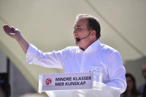 S-ledaren Stefan Löfven avslutade Almedalsveckan med ett djupt ideologiskt tal.