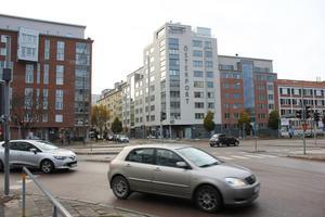 Korsningen vid Österport (Stora gatan-Pilgatan-Cityringen) står på tur att göras om till en cirkulationsplats 2019.