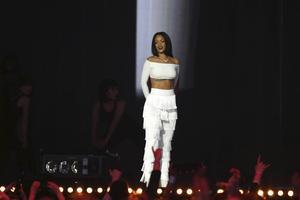 Rihanna uppträdde på onsdagens gala i London.