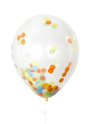 MIX. Maxa feststämningen med ballong och konfetti i ett. 12 stycken kostar 49 kronor hos Lagerhaus.