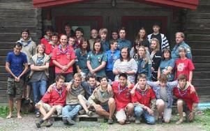 Scouter från B-laget, BorlängeScoutkår och Pionjärer från Pipaul, Sankt Paul 51:st Unit, Bryssel som träffades under den gångna helgen.
