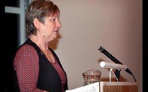 Oppositionsrådet Gertrud Hjelte, c, är kritisk till att alla partier inte var representerat vid onsdagens budgetmöte.-- Demokratin stryps i Hedemora, säger hon.FOTO: MIKAEL ERIKSSON