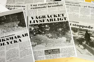Så här såg det ut i tidningarna efter olyckan i Bergsgården i december 1983.